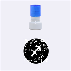 Sagittarius Floating Zodiac Name Rubber Round Stamps (Small) by theimagezone