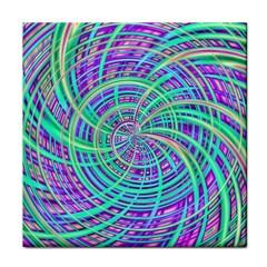 Happy Aqua Tile Coasters by MoreColorsinLife