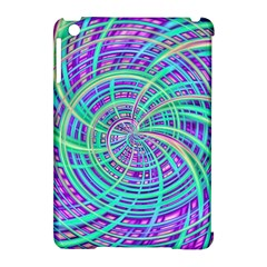 Happy Aqua Apple Ipad Mini Hardshell Case (compatible With Smart Cover) by MoreColorsinLife