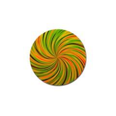 Happy Green Orange Golf Ball Marker (10 Pack) by MoreColorsinLife