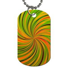 Happy Green Orange Dog Tag (two Sides) by MoreColorsinLife