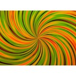 Happy Green Orange THANK YOU 3D Greeting Card (7x5)  Back