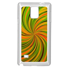 Happy Green Orange Samsung Galaxy Note 4 Case (White) by MoreColorsinLife