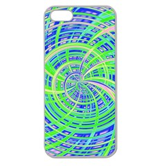 Happy Green Apple Seamless Iphone 5 Case (clear) by MoreColorsinLife
