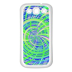 Happy Green Samsung Galaxy S3 Back Case (white) by MoreColorsinLife