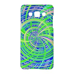 Happy Green Samsung Galaxy A5 Hardshell Case  by MoreColorsinLife