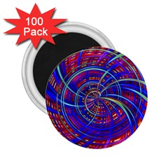Happy Red Blue 2 25  Magnets (100 Pack)  by MoreColorsinLife