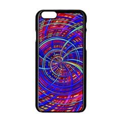 Happy Red Blue Apple Iphone 6/6s Black Enamel Case by MoreColorsinLife