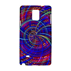 Happy Red Blue Samsung Galaxy Note 4 Hardshell Case by MoreColorsinLife