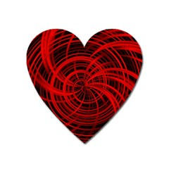 Happy, Black Red Heart Magnet by MoreColorsinLife