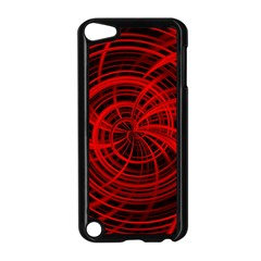 Happy, Black Red Apple iPod Touch 5 Case (Black) by MoreColorsinLife