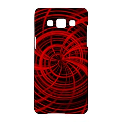 Happy, Black Red Samsung Galaxy A5 Hardshell Case  by MoreColorsinLife
