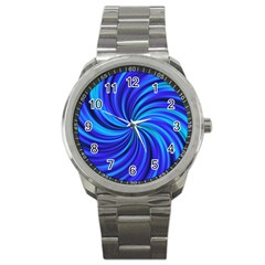 Happy, Blue Sport Metal Watches by MoreColorsinLife