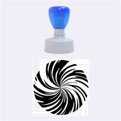 Happy, Blue Rubber Round Stamps (medium)
