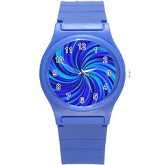 Happy, Blue Round Plastic Sport Watch (s) by MoreColorsinLife