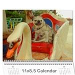 Pug Calendar Omi Clara 2016 - Wall Calendar 11  x 8.5  (12-Months)