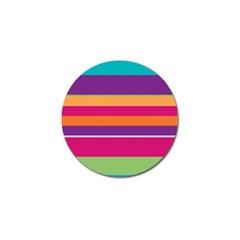 Jagged Stripes Golf Ball Marker by LalyLauraFLM