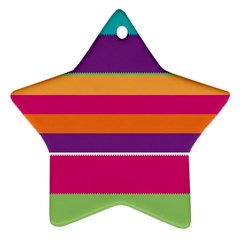 Jagged Stripes Star Ornament (two Sides) by LalyLauraFLM