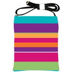 Jagged Stripes Shoulder Sling Bag by LalyLauraFLM