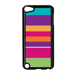 Jagged Stripes Apple Ipod Touch 5 Case (black) by LalyLauraFLM