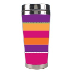 Jagged Stripes Stainless Steel Travel Tumbler by LalyLauraFLM