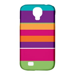 Jagged Stripes Samsung Galaxy S4 Classic Hardshell Case (pc+silicone) by LalyLauraFLM
