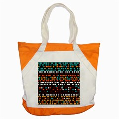 Squares Pattern In Retro Colors Accent Tote Bag by LalyLauraFLM