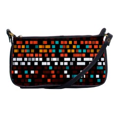 Squares Pattern In Retro Colors Shoulder Clutch Bag by LalyLauraFLM