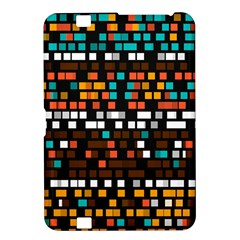 Squares Pattern In Retro Colors Kindle Fire Hd 8 9  Hardshell Case by LalyLauraFLM