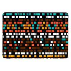 Squares Pattern In Retro Colors Samsung Galaxy Tab 8 9  P7300 Flip Case by LalyLauraFLM