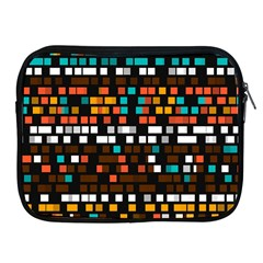 Squares Pattern In Retro Colors Apple Ipad 2/3/4 Zipper Case by LalyLauraFLM