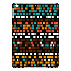 Squares Pattern In Retro Colors Apple Ipad Air Hardshell Case by LalyLauraFLM