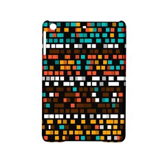 Squares pattern in retro colors Apple iPad Mini 2 Hardshell Case by LalyLauraFLM