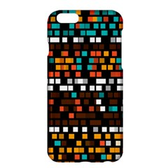 Squares pattern in retro colors	Apple iPhone 6 Plus Hardshell Case by LalyLauraFLM
