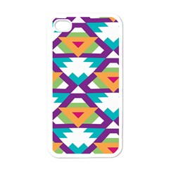 Triangles And Other Shapes Pattern Apple Iphone 4 Case (white) by LalyLauraFLM