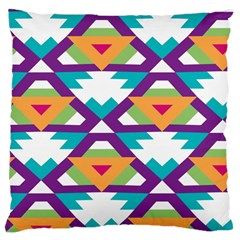 Triangles And Other Shapes Pattern Large Cushion Case (two Sides) by LalyLauraFLM