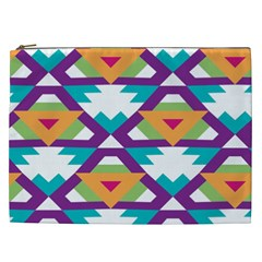 Triangles And Other Shapes Pattern Cosmetic Bag (xxl) by LalyLauraFLM