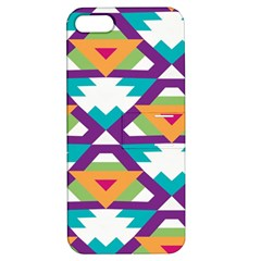 Triangles And Other Shapes Pattern Apple Iphone 5 Hardshell Case With Stand by LalyLauraFLM