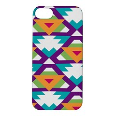 Triangles And Other Shapes Pattern Apple Iphone 5s Hardshell Case by LalyLauraFLM