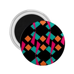 Shapes In Retro Colors  2 25  Magnet by LalyLauraFLM