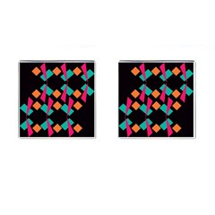 Shapes In Retro Colors  Cufflinks (square) by LalyLauraFLM