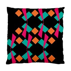 Shapes In Retro Colors  Standard Cushion Case (two Sides) by LalyLauraFLM