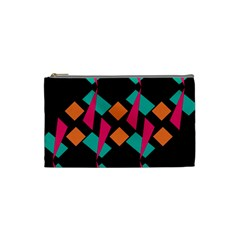 Shapes In Retro Colors  Cosmetic Bag (small) by LalyLauraFLM