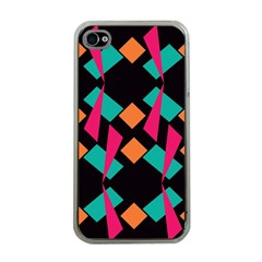 Shapes In Retro Colors  Apple Iphone 4 Case (clear) by LalyLauraFLM