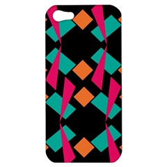 Shapes In Retro Colors  Apple Iphone 5 Hardshell Case by LalyLauraFLM