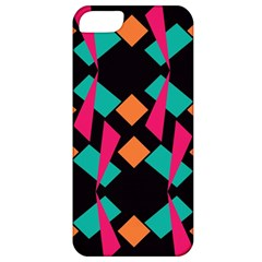 Shapes In Retro Colors  Apple Iphone 5 Classic Hardshell Case by LalyLauraFLM
