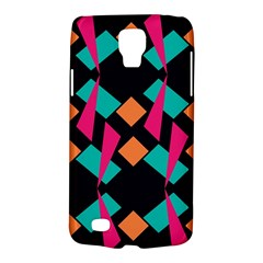 Shapes In Retro Colors  Samsung Galaxy S4 Active (i9295) Hardshell Case by LalyLauraFLM