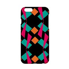 Shapes In Retro Colors  Apple Iphone 6 Hardshell Case by LalyLauraFLM