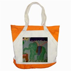 Elephant Delighted With Baby Accent Tote Bag  by VintageTaylor