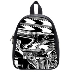 Bw Glitch 1 School Bags (small)  by MoreColorsinLife